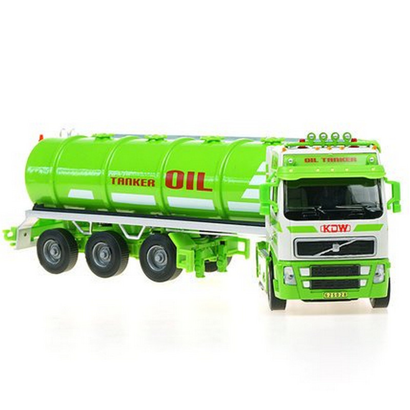 KAIDIWEI Oil Tanker Model Car Toy 1:50 Scale Diecast Metal + ABS Engineering Oil Tanker Kids Toys For Collection maisto jeep wrangler rubicon fire engine 1 18 scale alloy model metal diecast car toys high quality collection kids toys gift