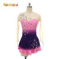 Nasinaya Figure Skating Dress Customized Competition Ice Skating Skirt for Girl Women Kids Patinaje Gymnastics Performance 247