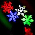 Colorido Do Floco de Neve Do Laser Light -- Branco Verde Azul Vermelho para o Festival de Natal Casa Jardim Decration