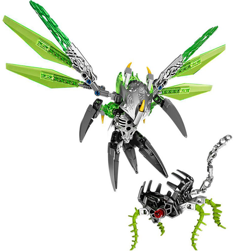 XSZ 609-1 Biochemical Warrior 71300 Bionicle Uxar Creature of Jungle Bricks Toy Building Block Compatible With Legoings Bionicle