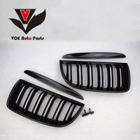 2005 2008 4PCS/Set Kidney Carbon Fiber Gloss Black E90 2 line Racing Grill Grille for BMW E90 3 Series(not fit for E90 M3)
