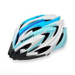 Księżyc nowy jazda na rowerze kask 2019 Intagrated M/L rozmiar kask rowerowy z LED lampka ostrzegawcza dla dorosłych casco ciclismo mujer a10 w Kaski rowerowe od Sport i rozrywka na