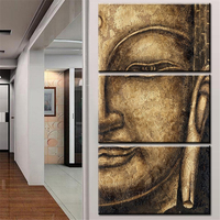 The Original High Quality HD Print Oil Painting 3 Panel Wall Art Religion Buddha Oil Painting