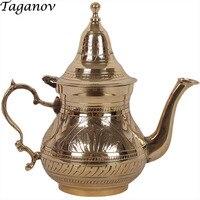 Dzbanek do herbaty tieguanyin herbaty puerh longjing zielona herbata jaśminowa Teaware czajnik Czajniki zabytkowych chińskich miedzi czajniczek pu er herbata-pot waterpot