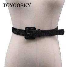 TOYOOSKY 2018 sexy leopard print pu women belt Fashion cool basic waist belts female Chic cute elegant