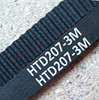 5 pieces/pack 207 HTD3M 9 timing belt teeth 69 width 9mm length 207mm rubber closed-loop belt 207-3M HTD 3M pulley CNC machine