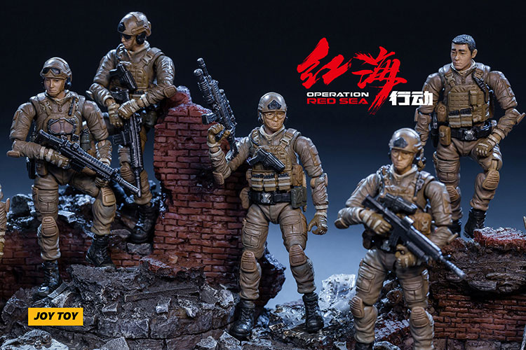 1/25 JOYTOY Action Figures Army Soldiers Set Model Collection Edtion Finished