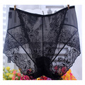 New Arrival women's briefs sexy lingeries Lace Transparent hollow Plus Size M-XXXL underwear women panties