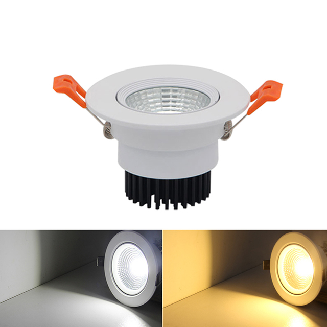 Us 4 35 45 Off 1pc Dimmable Led Downlight Cob 7w 9w 12w 15w Spot Led Encastrable Plafonnier Adjustable Recessed Downlight Home Lighting Fixture In