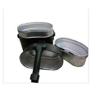 Image 2 - Ordu yemek kabı 3 adet 1 açık kamp seyahat sofra takımı İkinci dünya savaşı almanya askeri kamp yemek kiti kantin su isıtıcısı Pot gıda fincan kase