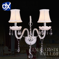Branco K9 Cristal LED Lâmpada de Parede de Cristal Quarto Lâmpada de Parede Lâmpada de Cosméticos Cristal Branco Cristal Arandela|k9 gold|lamp module|lamp festival -
