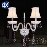White K9 Crystal LED Crystal Wall Lamp Bedroom Wall Lamp Cosmetic Lamp Crystal White Crystal Sconce