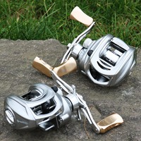 Metal knod and gear Bait Casting Fishing Reel Seawater Boat Game Lure Fishing rotate adjustment