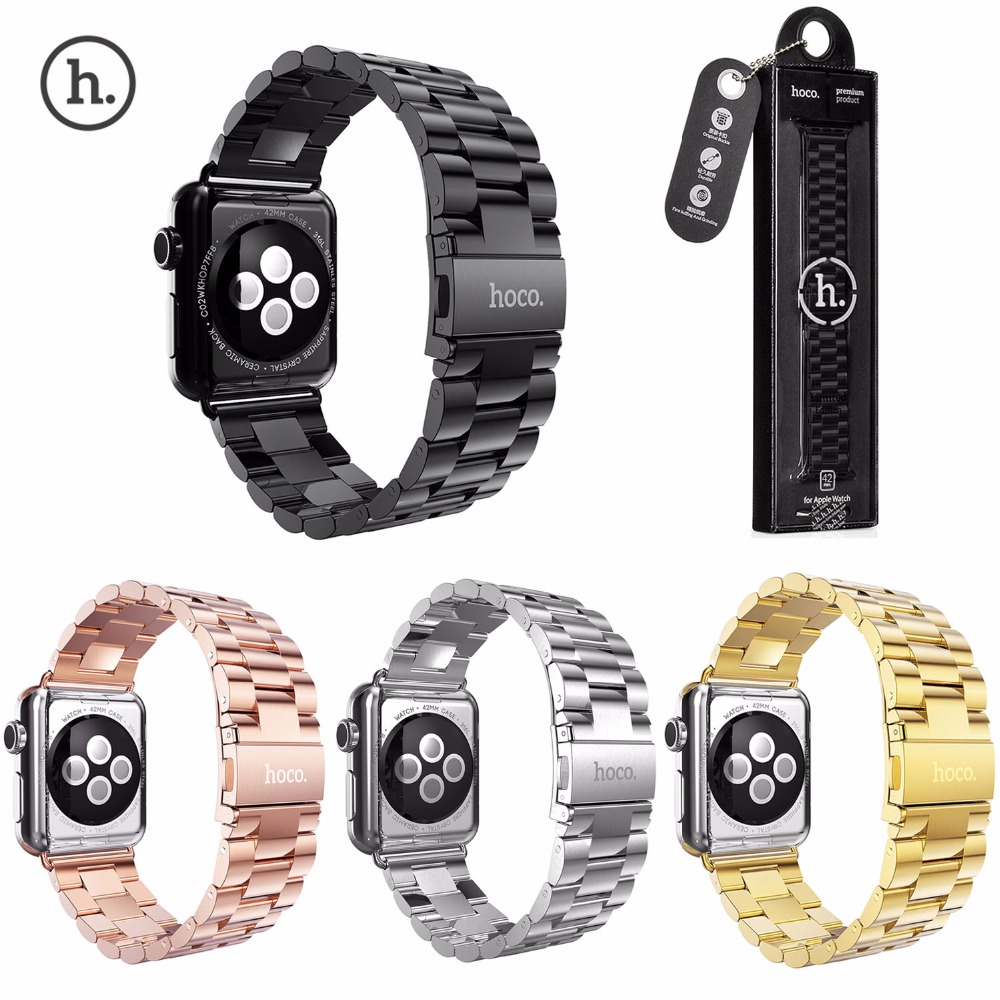 Original HOCO Strap For Apple Watch Band Stainless Steel Bracelet For iWatch Series 3 2 1 42mm 38mm Wristband Belt wristband silicone bands for apple watch 42mm sport strap replacement for iwatch band 38mm classic stainless steel buckle clock
