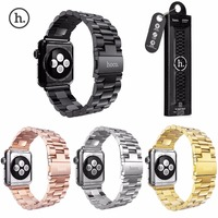 38mm Hoco For Apple Watch Band Stainless Steel Bracelet Buckle Strap With Clip Adapter For Apple