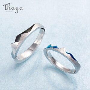 Image 2 - Thaya côte à côte Design anneaux Cool en été S925 bijoux en argent Sterling Couple anneau pour cadeau de fiançailles de mariage
