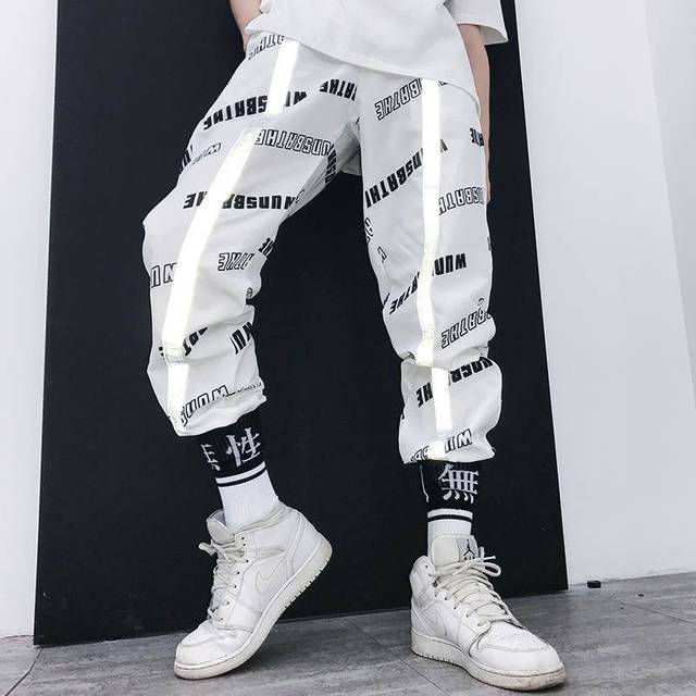 Fashion Hip Hop Pants Streetwear Harajuku Joggers Men Loose Harem Pants Male Funny Casual Pants Summer Trousers Mens Sweatpants