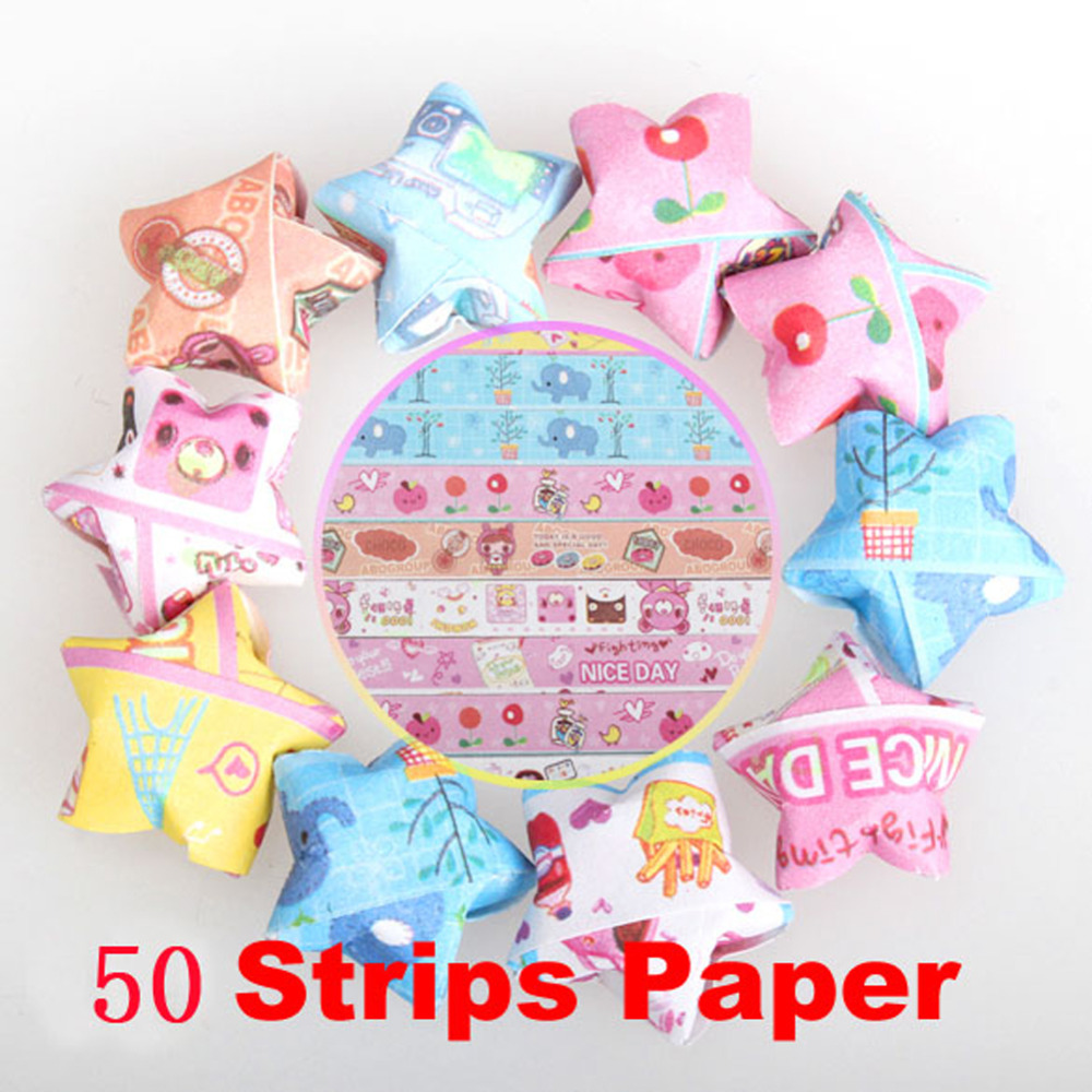 50 pcs fashion folding kit lucky star origami wish star origami 50 pcs fashion folding kit lucky star origami wish star origami paper strips paper crafts art tools diy handmade origami paper in craft paper from home jeuxipadfo Choice Image