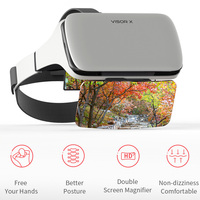 2019 NEW Augmented Reality AR Glasses Virtual Reality 3D Glasses No Dizziness Gaming Helmet Comfortable For iOS Android Phone VR