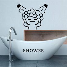 creative baby love shower bubble wall stickers for bathroom sliding door waterproof glass shower room wall decals art mural