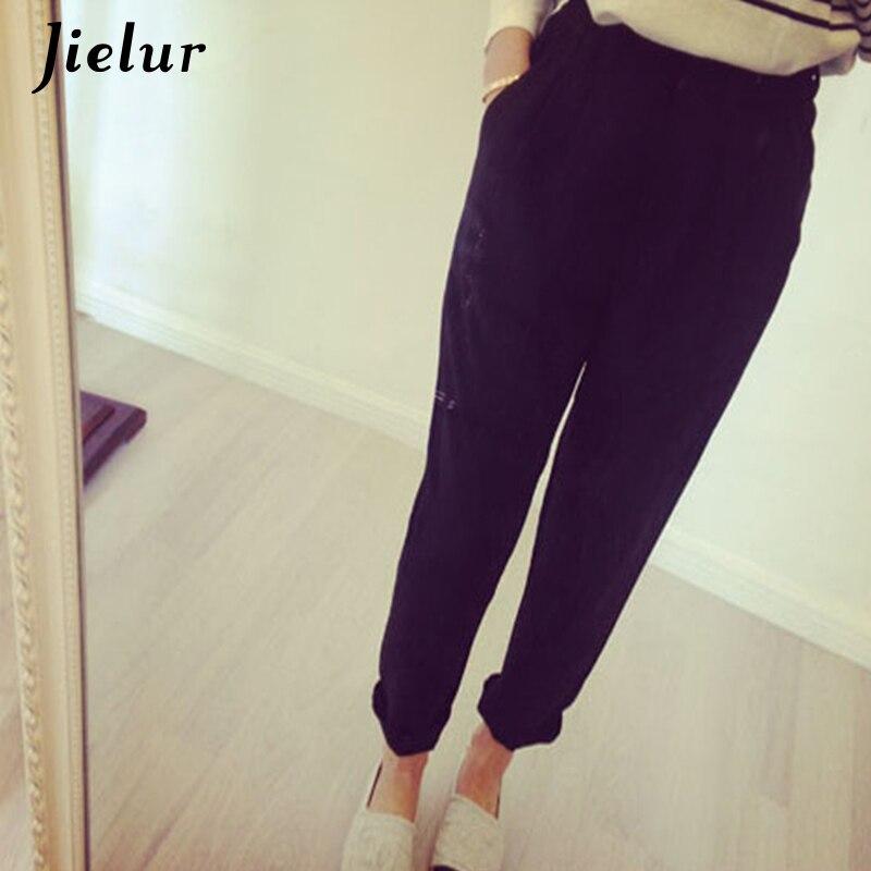 2018 קיץ חדש XXL פנאי מכנסי עיפרון נשי סקיני באורך קרסול הרמון מכנסיים כיסי Slim מזדמן נשים של מכנסיים שחור pantalon