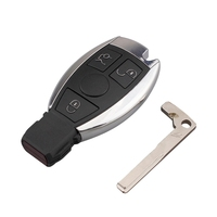 3 Buttons Remote Car Key Shell Key Replacement For Mercedes Benz year 2000+ NEC&BGA Control 433.92MHz