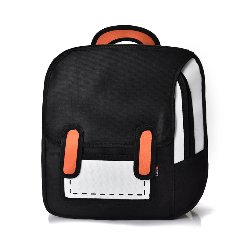 Fashion Backpack Cute Student School Bags Women Bagpack 3d Jump Style Zaino 2d Drawing Cartoon Back Bag Comic Unisex Knapsack