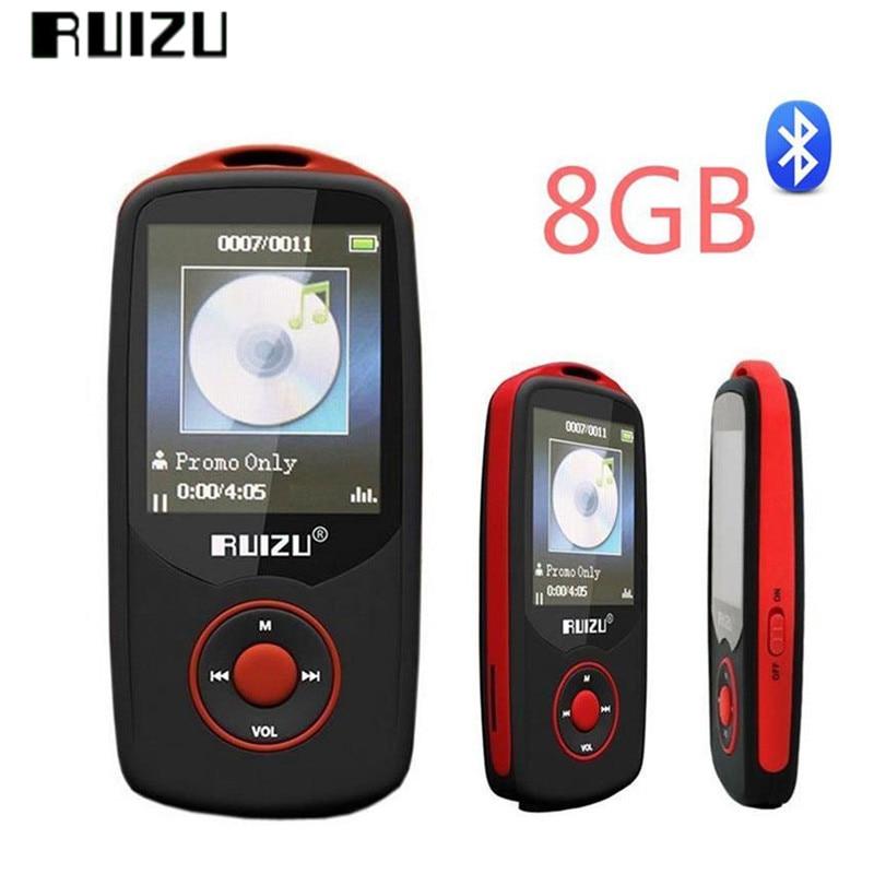 "Original RUIZU X06 Mp3 Player Bluetooth 8GB TFT 1.8"" LCD Screen Lossless Voice Recorder FM Hifi Mini Sports MP3 Music Player"
