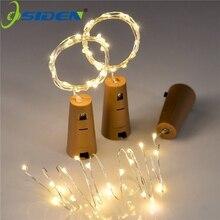 6.5ft 20 светодиодных винных бутылочных огней Корк на батарейках гирлянда DIY рождественские огни