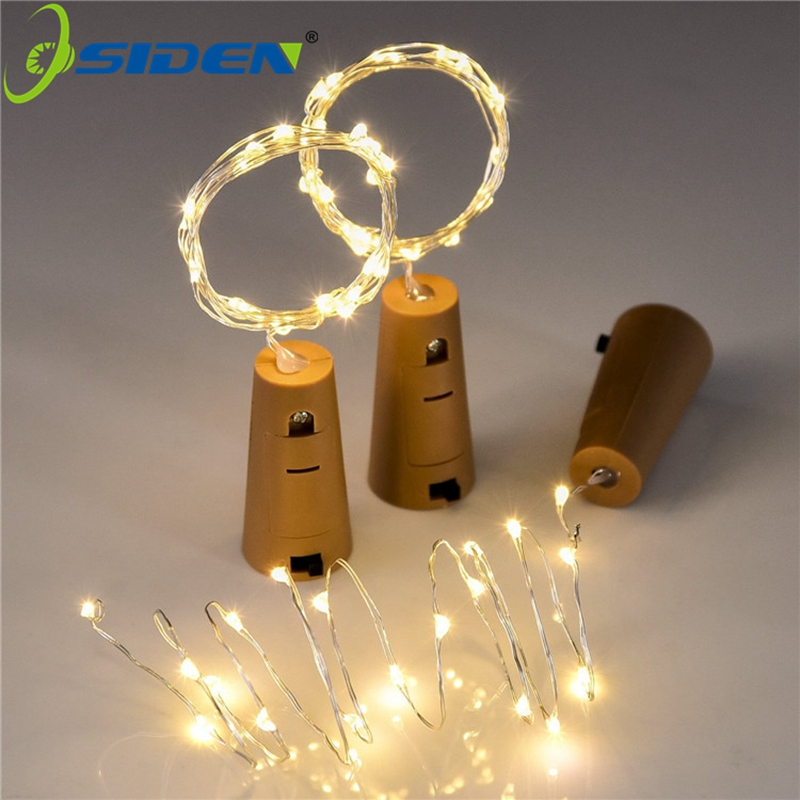 Wine Bottle Lights 6.5ft 20LED Cork Battery Powered Garland DIY Christmas String Lights For Party Halloween Wedding Decoracion
