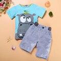 TZ215, Frete Grátis! venda Quente crianças conjunto de roupas de bebê menino roupas casuais terno (t-shirt + calções) roupas de verão crianças menino varejo