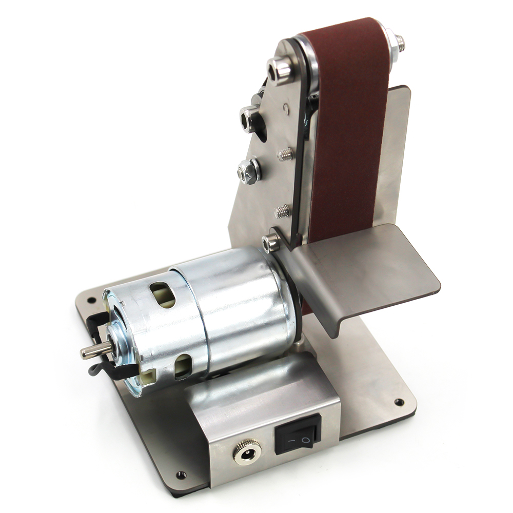 Professional Electric Mini Vertical Belt Sander Machine DIY Polishing Machine Fixed angle Sharpener Table Cutting Edge