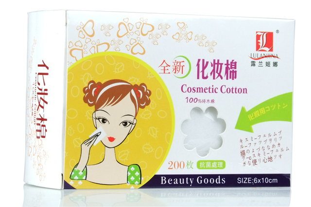 100% cotton thin cotton pad water face eye makeup remover tissue antibiotic