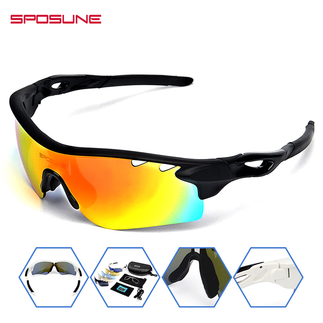 1d239a2744 Mens Sport Polarized Sunglasses with 5 Lens Cycling Climbing Bike Bicycle Running  Sunglasses Eyewear Reading Glasses for Women