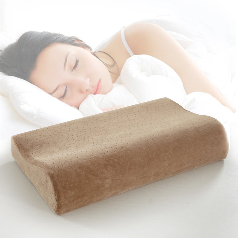 High Quality 1Pcs Space Pillow Goose Down Slow Rebound Memory Foam Pillow Neck Cervical font b