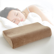 High Quality 1Pcs Space Pillow Goose Down Slow Rebound Memory Foam Pillow Neck Cervical Health Care Bed Pillows
