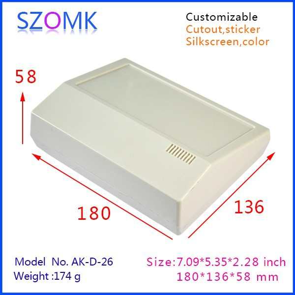1 piece free shipping abs plastic material new arrival enclosures housing for electronics for desk top housing 180x136x58mm 1 piece free shipping abs plastic electronics enclosures case housing for design and any device box could be hang up