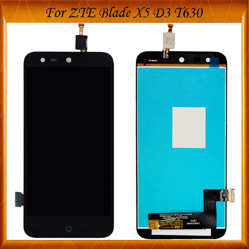 5.0 inch For <font><b>ZTE</b></font> Blade X5 /Blade D3 <font><b>T630</b></font> LCD display and Touch Screen Assembly Perfect For <font><b>ZTE</b></font> Blade X5 image