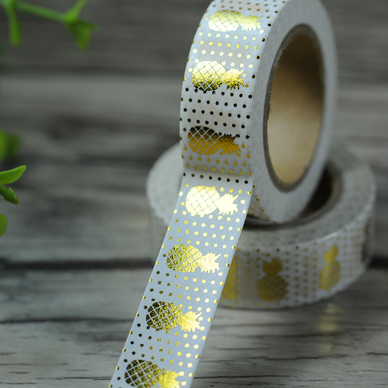 Pineapple Fruit Washi Tape 15mm 10m Deco Sticker Scrapbook Sticky Craft Tape