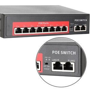 Image 5 - Commutateur POE réseau 48V Techege avec 4/8 Ports 10/100Mbps IEEE 802.3 af/at caméra IP Ethernet/système de caméra AP/CCTV sans fil