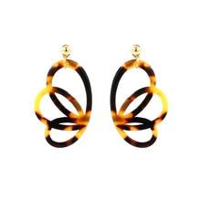 Women Elegant Exquisite Fairy Wings Butterfly Shape Eardrop Acetate Earrings Dangle Earring Jewelry