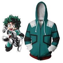 Anime My Hero Academia Izuku Midoriya costume hoodie jacket Boku no Hero Academia cosplay Sweatshirts Halloween women men women in academia