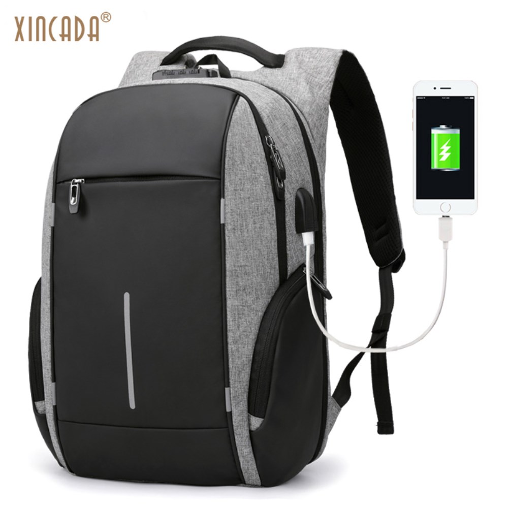 XINCADA Anti Theft Backpack Laptop Backpacks Travel Backpack School Bookbag Back Pack Mens Backpack with A USB Charging Port настенно потолочный светильник eglo navedo 93448