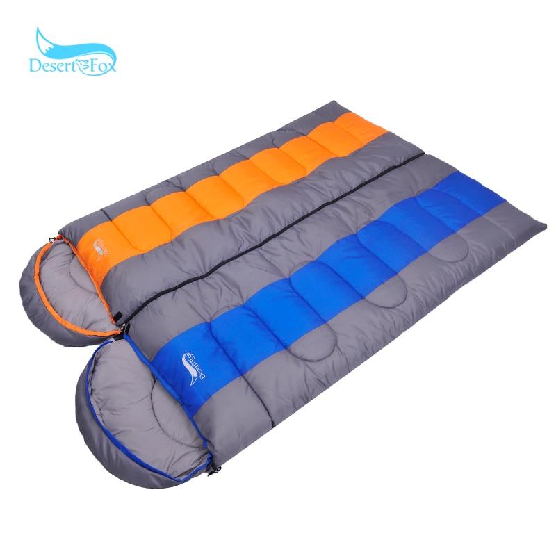Désert & renard hiver 2 KG sac de couchage élargir épaissir couverture chaud bientôt léger en plein air randonnée Camping sac de couchage