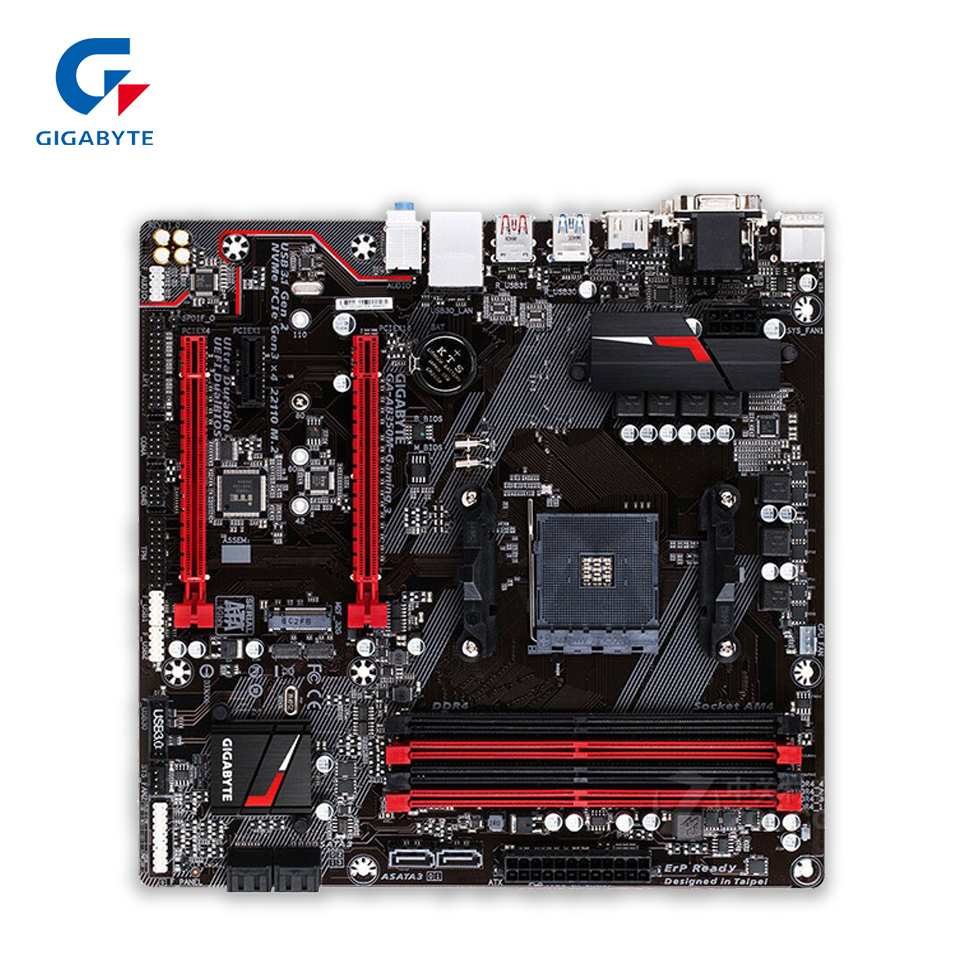Gigabyte GA-AB350M-Gaming 3 Original New Desktop Motherboard AB350M-Gaming 3 B350 Socket AM4 DDR4 64G USB3.1 Micro ATX