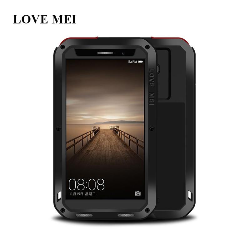imágenes para De la Marca AMOR MEI de Aluminio Del Metal Para Huawei Mate 9 (5.9 pulgadas) Armadura A Prueba de agua a prueba de golpes Para Huawei Mate 9 Mate9 Shell