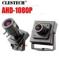 Super Piccolo AHD MINI macchina fotografica del CCTV Sony imx323 2.0MP 1080P metallo di Sicurezza di Sorveglianza micro monitoraggio Video vidicon con staffa