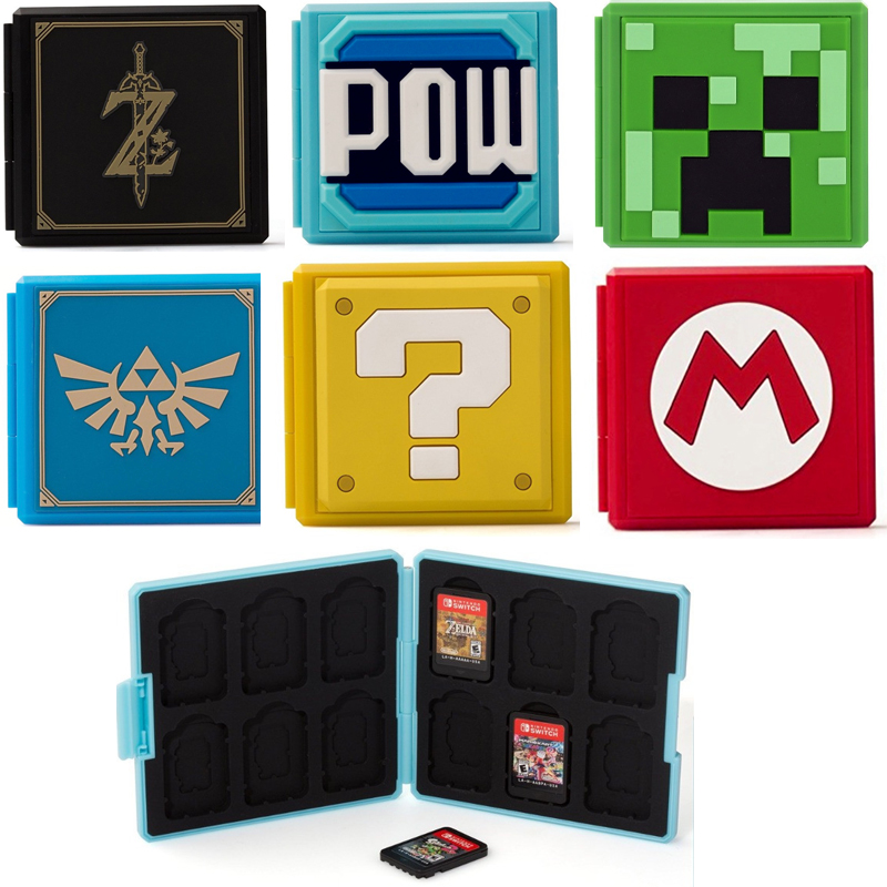 Switch Game Card Case Storage Box with 12 Game Card Slots and 12 Micro SD Card Holders for Nintendo Switch NS 45 лучших монтессори игр 0 6 лет