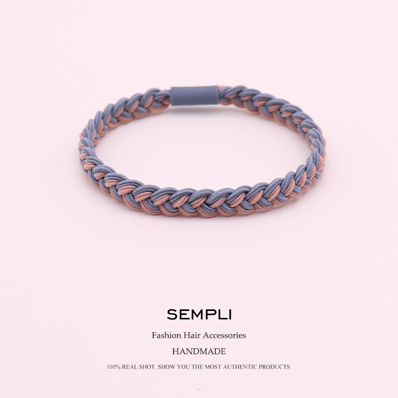 Sempli Women Elastic Hair Band Headband Bohemian Weave Elastic Hair Bands For Kid Elastic Hair Rubber Band Hair Clip Accessories