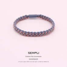цена на Sempli Women Elastic Hair Band Headband Bohemian Weave Elastic Hair Bands for Kid Elastic Hair Rubber Band Hair Clip Accessories